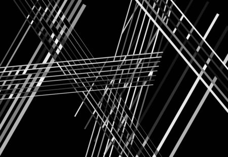 Abstract geometric art with random, chaotic lines. Straight crossing, intersecting lines texture, stripes pattern