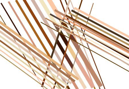 Brown Colorful Abstract geometric art with random, chaotic lines. Straight crossing, intersecting lines texture, stripes pattern 向量圖像