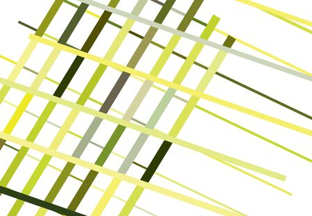 Colorful Yellow and Green Abstract geometric art with random, chaotic lines. Straight crossing, intersecting lines texture, stripes pattern