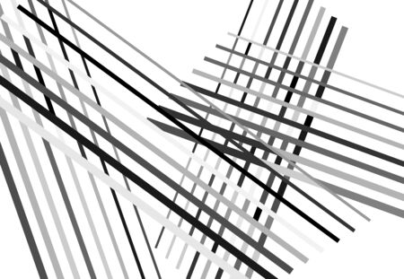 Abstract geometric art with random, chaotic lines. Straight crossing, intersecting lines texture, stripes pattern 向量圖像