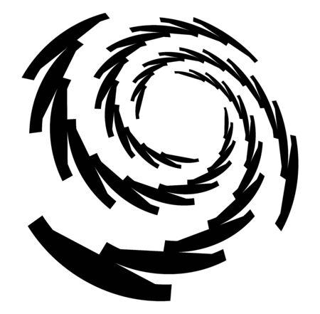 Monochrome volute, vortex shapes. Twisted helix elements. Rotation, spin and twist concept design Reklamní fotografie - 142969437
