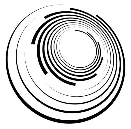 Monochrome volute, vortex shapes. Twisted helix elements. Rotation, spin and twist concept design Reklamní fotografie - 142969612