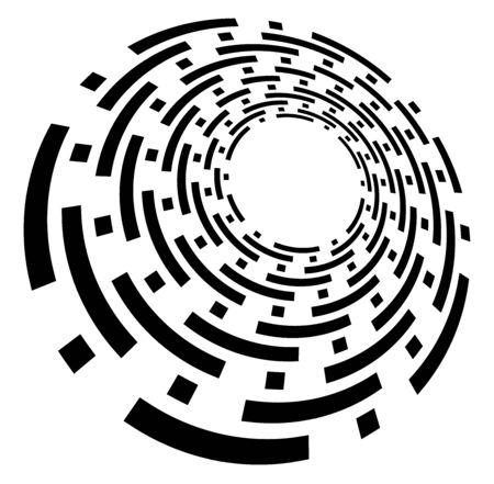 Monochrome volute, vortex shapes. Twisted helix elements. Rotation, spin and twist concept design Reklamní fotografie - 143040821