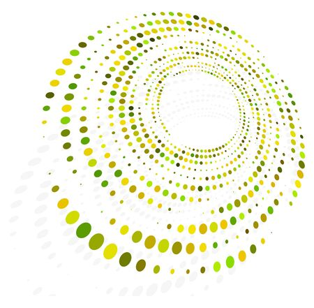 monochrome cyclic, cycle concentric rings. revolved spiral, vortex, whorl. abstract circular, radial loop shape, element Vector Illustration