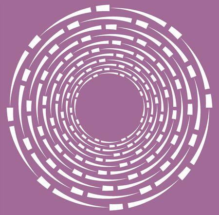 white helical, spiraling, curl and curly shape. spiral, twirl, swirl illustration. twine design element over single-color, monochrome background, backdrop. helix, volute Ilustração Vetorial