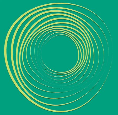 duotone curly, coil, gyration volute shape. twine vortex rotating in concentric, radial, radiating and circular, circling fashion