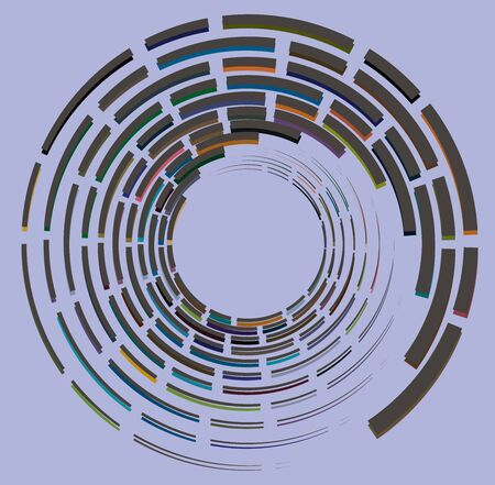 multi-color curly, coil, gyration volute shape. twine vortex rotating in concentric, radial, radiating and circular, circling fashion Reklamní fotografie - 143459334