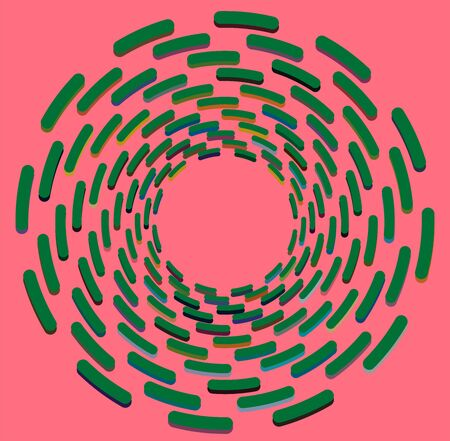 multi-color curly, coil, gyration volute shape. twine vortex rotating in concentric, radial, radiating and circular, circling fashion Reklamní fotografie - 143459536