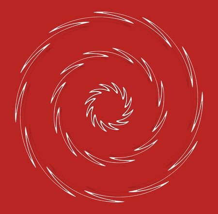 white helical, spiraling, curl and curly shape. spiral, twirl, swirl illustration. twine design element over single-color, monochrome background, backdrop. helix, volute