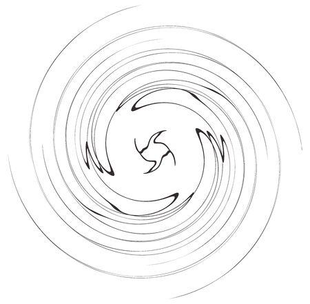 Monochrome volute, vortex shapes. Twisted helix elements. Rotation, spin and twist concept design Reklamní fotografie - 143762050