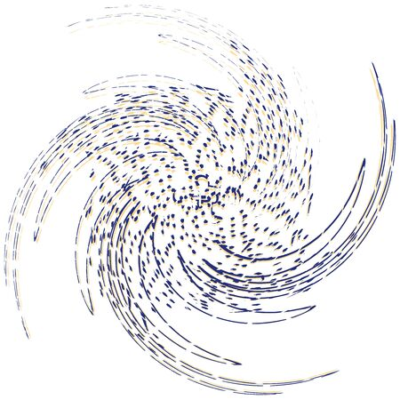 Single-colored, monochrome twirl, swirl. Shape with rotation, spin, spiral distortion. Helix, volute and twine design element Reklamní fotografie - 144058645