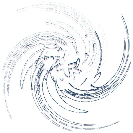Single-colored, monochrome twirl, swirl. Shape with rotation, spin, spiral distortion. Helix, volute and twine design element Ilustrace