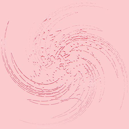 tricolor curly, coil, gyration volute shape. twine vortex rotating in concentric, radial, radiating and circular, circling fashion Ilustrace