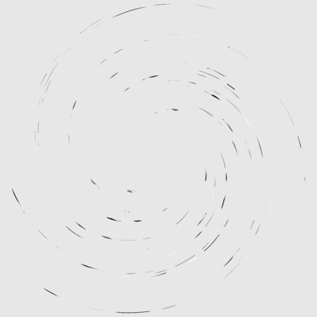 Random color smudge, smear, grungy monochrome, black and white volute, vortex shape. Twisted helix element.Rotation, spin and twist concept design. Abstract greyscale spiral, swirl, twirl illustration Ilustrace