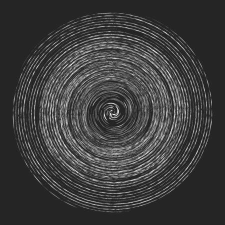 Smudge, smear, grungy monochrome, black and white volute, vortex shape. Twisted helix element. Rotation, spin and twist concept design. Abstract greyscale spiral, swirl, twirl illustration Reklamní fotografie - 143801268