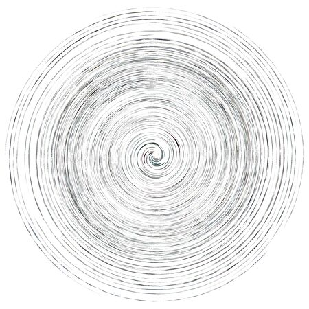 Cream smudge, smear abstract spiral design element. Swirl, twirl shape. Volute, helix, cochlear illustration