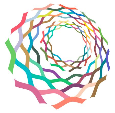 creamy, pastel smudged, smeared colorful, multi-color concentric, cyclic rings of different shapes. revolved spiral, vortex, swirl or twirl. abstract geometric circular, radial loop shape, element