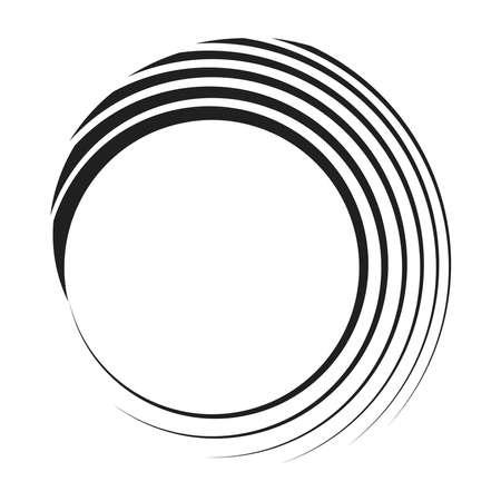 Geometric circular spiral, swirl and twirl. Cochlear, vortex, volute shape – Stock vector illustration, Clip art graphics