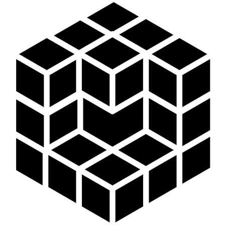 3D Cube, Square icon, symbol (Series) – Stock vector illustration, Clip art graphics Vecteurs