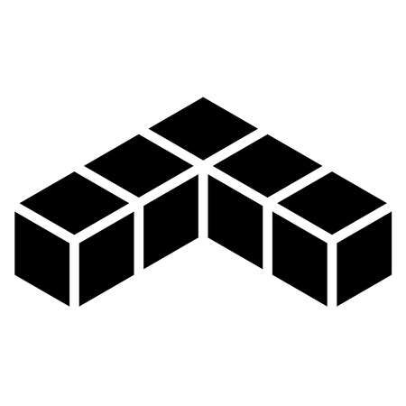 3D Cube, Square icon, symbol (Series) - Stock vector illustration, Clip art graphics Vecteurs