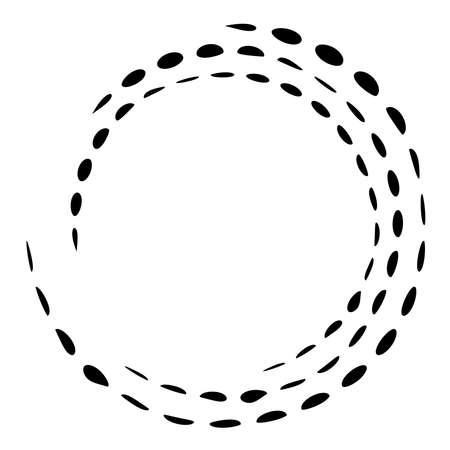 Geometric circular spiral, swirl and twirl. Cochlear vortex volute shape - Stock vector illustration, Clip art graphics