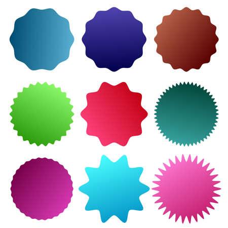 Badge, medal - Starburst, Sunburst Seal vector icon. Round, circle banner, Sticker or Vignette shape - Royalty free stock vector illustration, clip-art
