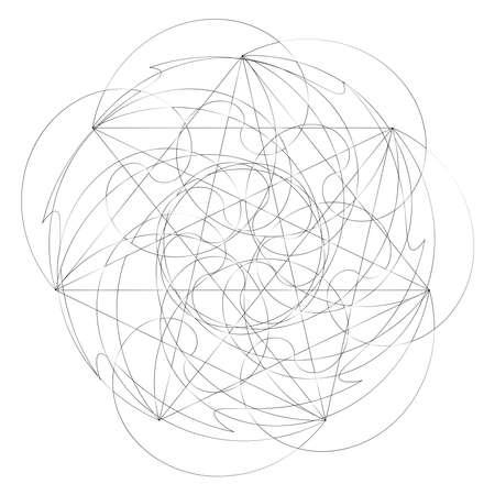Squiggly random sketch, sketchy random lines. Tangled lines. Knot design element. Wiggly, curvy lines – Stock vector illustration, Clip art graphics Vecteurs