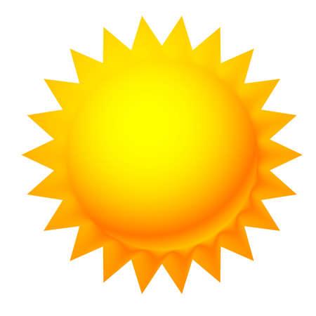 Sun clip-art. Sun graphics, symbol or icon vector – Stock vector illustration, Clip art graphics