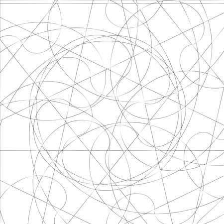 Squiggly random sketch, sketchy random lines. Tangled lines. Knot design element. Wiggly, curvy lines – Stock vector illustration, Clip art graphics