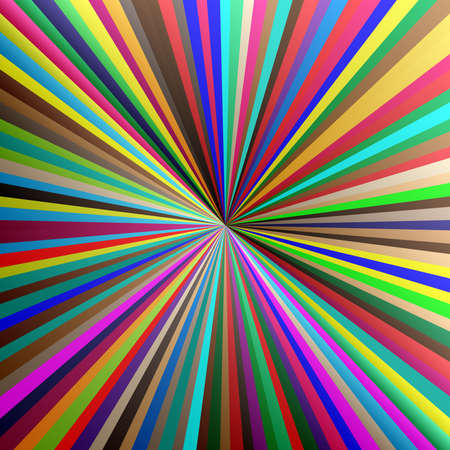 Beams, rays conflux lines. Radial–Radiating lines, stripes — Stock illustration, Clip art graphics Ilustração Vetorial