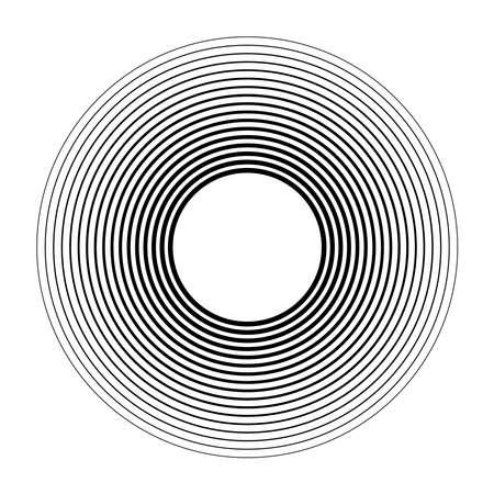 Geometric circular spiral, swirl and twirl. Cochlear, vortex, volute shape – Stock vector illustration, Clip art graphics Ilustração Vetorial