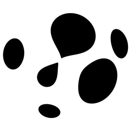 Smudged, smeared circular stain spot. Ink blot, blotch. Speckle, splat and splatter. Splashing liquid, gel, fluid vector illustration – Stock vector illustration, Clip art graphics