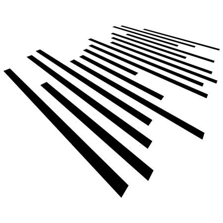 Parallel straight lines, stripes in perspective, 3d – Stock illustration, Clip art graphics