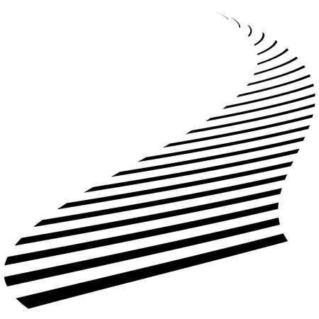 Abstract wavy, waving, billowy lines vector element – Stock illustration, Clip art graphics