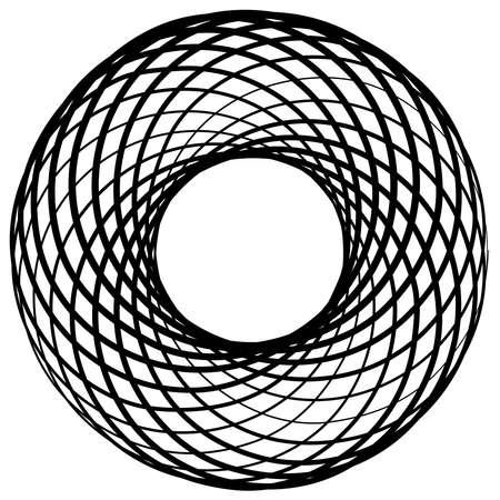 Curlicue, Loop shapes, elements vector illustration — Stock vector illustration, clip-art Ilustração Vetorial