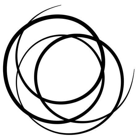 Curlicue, Loop shapes, elements vector illustration — Stock vector illustration, clip-art