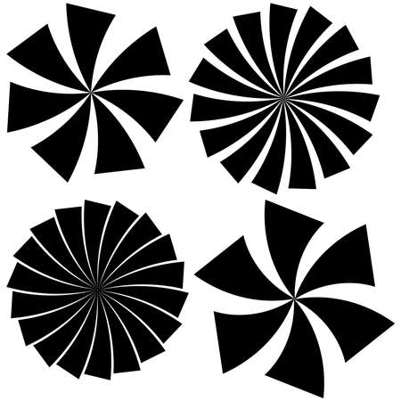 Twist, spiral circular abstract shapes design element(s) – Stock illustration, Clip art graphics