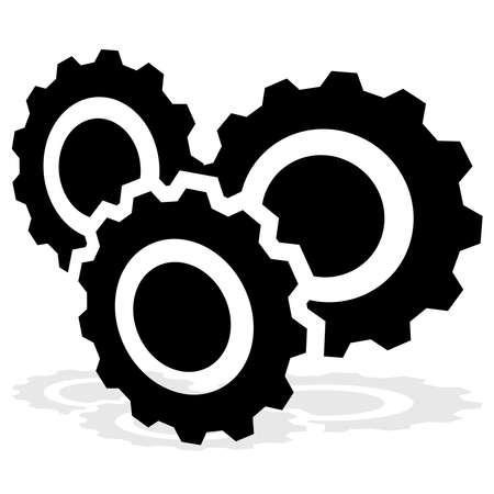 Gear, cogwheel, gearwheel icon, symbol and logo. Setup, customization, technical concept vector logo – Stock illustration, Clip-art graphics Logó
