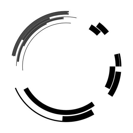Geometric HUD, sc-fi GUI, UI circular elements. Geometric circle vector – Stock vector illustration, Clip art graphic Vektorgrafik