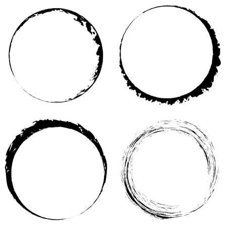 Grungy circle blob, blotch vector – Stock vector illustration, Clip art graphics Vetores