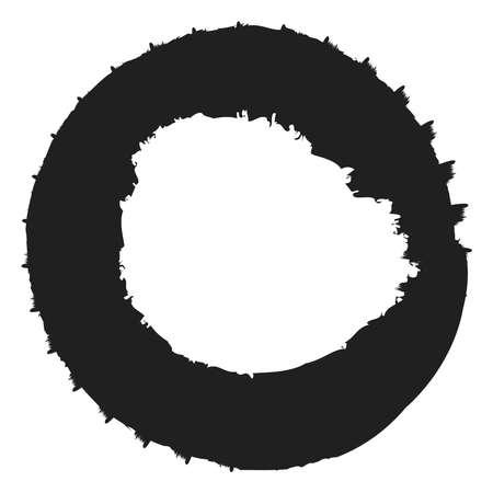 Grungy circle blob, blotch vector – Stock vector illustration, Clip art graphics