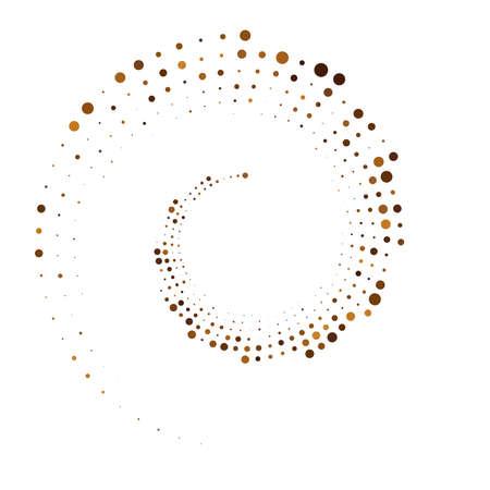 Dots, dotted circular spiral. Swirl, twirl of circles. Stippling, pointillist design. Speckles, flecks vector illustration – Stock vector illustration, Clip art graphics Vektoros illusztráció