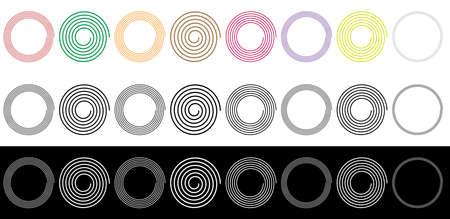 Archimedean - Arithmetic abstract spiral, swirl, twirl set on white. Volute, helix, cochlear shape(s) — Stock vector illustration, Clip art graphics Ilustração Vetorial