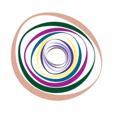 Spiral, swirl, twirl element set. Abstract vector – Stock vector illustration, Clip art graphics