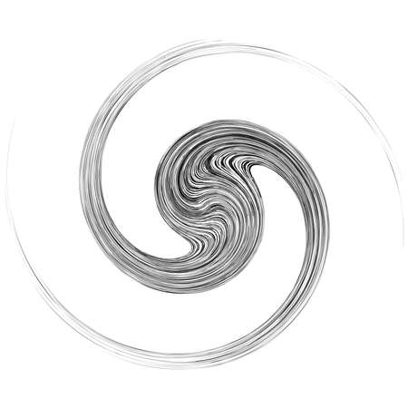 Cycle design element with contort, spin effect. Abstract swerve circlet spiral – Stock illustration, Clip art graphics