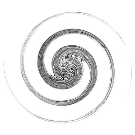 Cycle design element with contort, spin effect. Abstract swerve circlet spiral – Stock illustration, Clip art graphics Ilustração Vetorial