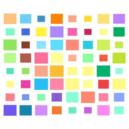 Tessellation, mosaic colorful, light colored squares, rectangles pattern – Stock illustration, Clip art graphics Векторная Иллюстрация