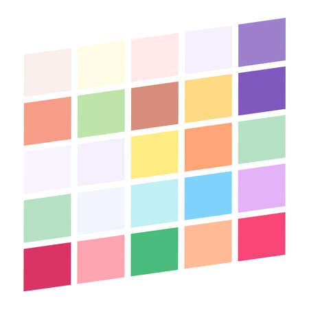 Tessellation, mosaic colorful, light colored squares, rectangles pattern – Stock illustration, Clip art graphics