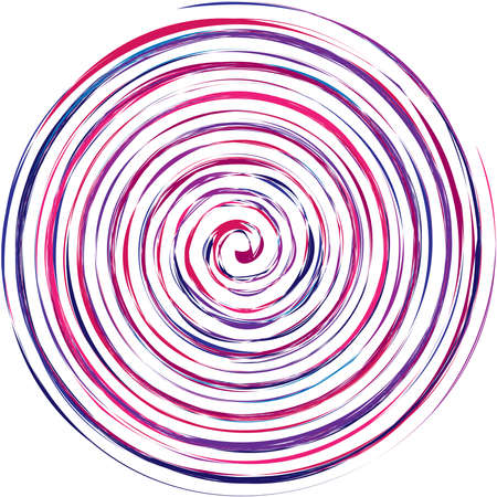 Grungy textured spirals, swirls, twirls. Helix, volute, snail shape – Stock vector illustration, Clip art graphics