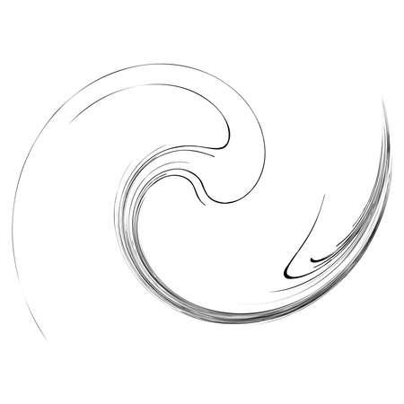 Spirals, swirls, twirls. Helix, volute, snail shape – Stock illustration, Clip art graphics